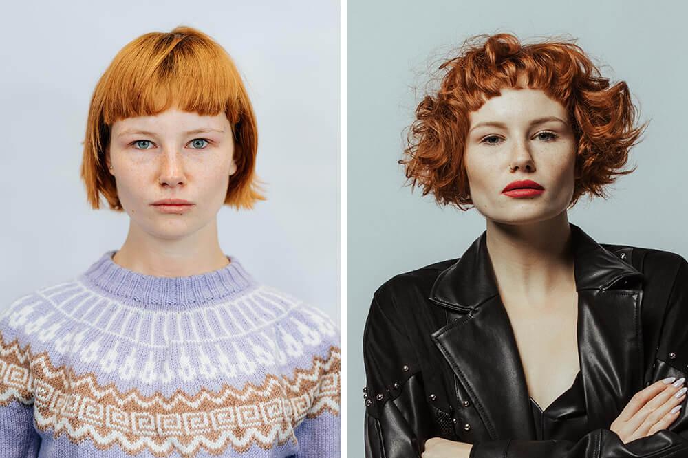 Metamorfoza rudych włosów w salonie 1909fryzjerzy