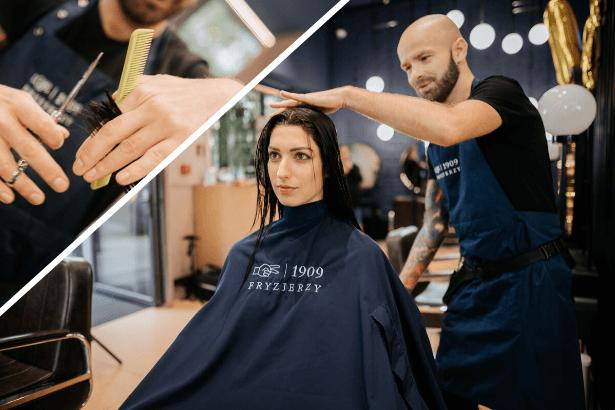 strzyzenie bardzo dlugich wlosow w salonie 1909 fryzjerzy w warszawie